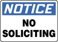 Notice- No Soliciting Sign