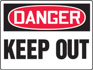 MADM121 Danger Keep Out Big Safety Sign