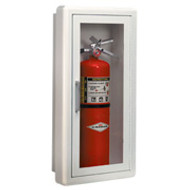 Fire Extinguisher Cabinet-metal fully recessed flat trim -  Without lock