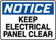 Notice - Keep Electrical Panel Clear