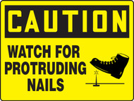 MEQM716 Caution Watch for Protruding Nails Big Safety Sign