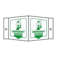 Emergency Shower Sign 3D