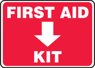 First Aid Kit (Down Arrow) - .040 Aluminum - 10'' X 14''
