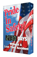 "Digi Day 2 Safety Scoreboard Pride in Safety... #### Days Without a Lost Time Accident- Safety Scoreboard- 28"" x 20"" SCG130"