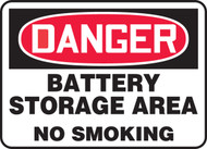 Danger Battery Storage Area No Smoking Sign MCPGD17VP