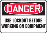 Danger - Use Lockout Before Working On Equipment