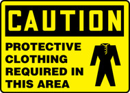 Caution - Protective Clothing Required In This Area (W/Graphic)