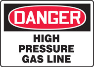 Danger - High Pressure Gas Line