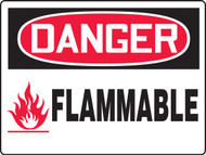 Danger Flammable Safety Sign MCHL158