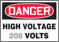 Danger - High Voltage ___ Volts 1