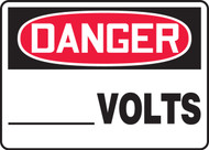 Danger - ___ Volts