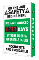 Outdoor Electronic Safety Scoreboard- Digi Day Plus- On the Job Safety SCM311