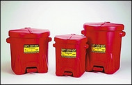 Eagle Polyethylene Oily Waste Can Red 6 gallon