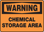 Warning - Chemical Storage Area