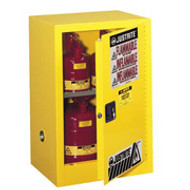 Justrite Yellow Compac  Safety Cabinet 12 gal.