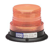 Ecco Amber Lens Strobe Light  Permanent Mount