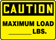 Caution - Maximum Load___ Lbs.
