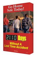 Digi Day 2 Safety Scoreboards - Go Home Safe Today! Accuform SCG110