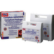 Bloodborne Pathogen Kit & First Aid Kit ANSI/ OSHA Compliance Package- 50 Person