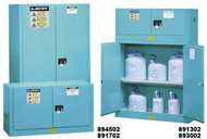 Justrite Blue Corrosive Safety Cabinet- 45 gallon