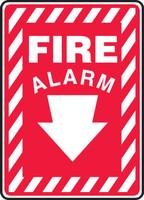 Fire Alarm (Arrow) - Plastic - 14'' X 10''