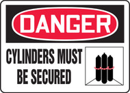 Danger - Cylinders Must Be Secured 1