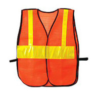 Orange PVC Coated Signage Safety Vest (Set of 3 Safety Vests)