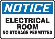 Notice - Electrical Room No Storage Permitted