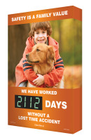 Digi Day 2 Safety Scoreboard- Safety is a Family Value Accuform SCG112