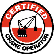 Certified Crane Operator Hard Hat Decal W/graphic 10/pack