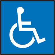Handicap Symbol - Re-Plastic - 14'' X 10''