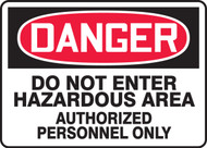 Danger - Do Not Enter Hazardous Area Authorized Persons Only