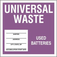 Universal Waste - Used Batteries