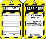 Barricade Status Alert Tag 2