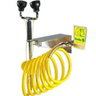 Dual Head Wall Mounted Face / Body Drench Hose