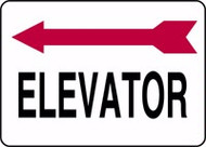 Elevator Sign- Arrow Left
