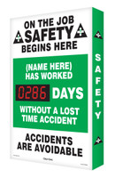 Electronic Safety Scoreboard Digi Day| On The Job Safety Begins Here | SCA286