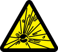 MISO356 Explosives Hazard ISO Warning Safety Sign