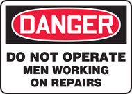 Danger - Do Not Operate Men Working On Repairs