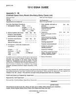 Confined Space Entry Permit - Checklist