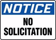 Notice- No Solicitation Sign