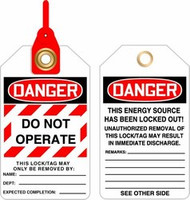 Danger Do Not Operate Loop Safety Tag- Lock Out Tag