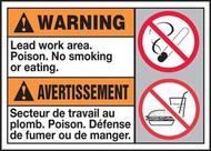 Warning Lead Work Area Poison No Smoking Or Eating (W/Graphic)