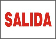 Salida- Spanish safety sign