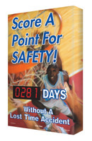 Digi Day Electronic Safety Scoreboard- Score A Point For Safety! SCA281