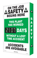 Digi Day 2 Electronic Safety Scoreboard- On The Job Safety Begins Here SCG107