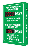Digi Day Safety Scoreboard- This Department Has Worked -SCA238 Accuform