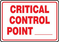 Critical Control Point ___