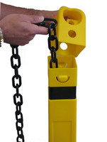 Guard Post Heavy Duty Black Plastic Chain 100'  (Chain only)