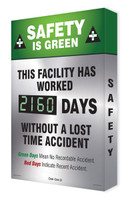 Digi Day 2 Electronic Safety Scoreboard- Safety is Green  SCG160